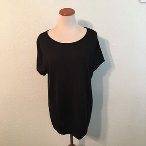 Investments Black Short Sleeve Sweater Size 1X NWT